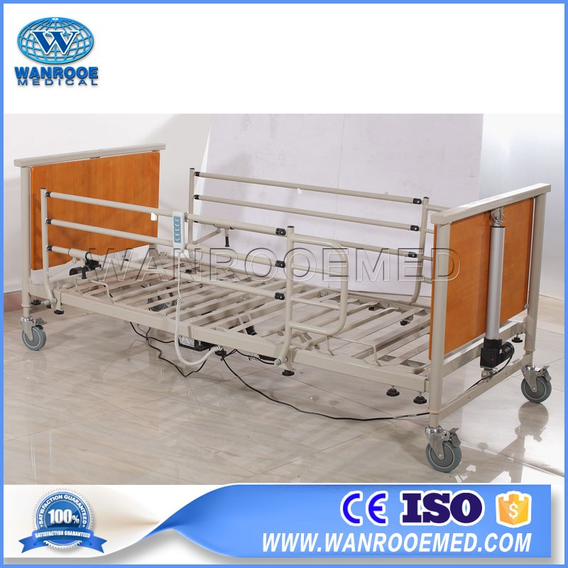 BAE5092 Five-Function Wooden Nursing Hospital/Home Care Patient Bed