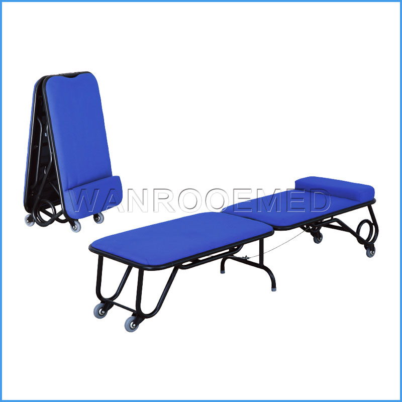 BHC001B Stainless Steel Metal Mobile Hospital Foldable Accompany Chair