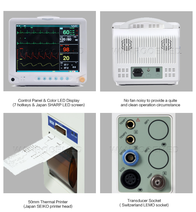 Patient Monitor, Medical Patient Monitor, Multi-parameter Patient Monitor, Portable Patient Monitor, Hospital Patient Monitor