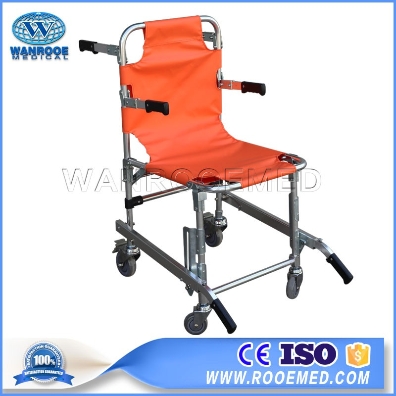 EA-6A/6B Aluminum Alloy Manual Folding Stair Climbing WheelChair