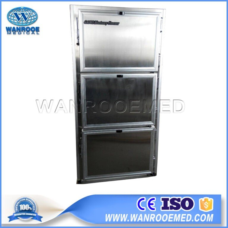 GA303 Hospital Stainless Steel 304 Mortuary Equipment Three Body Size Morgue Freezer