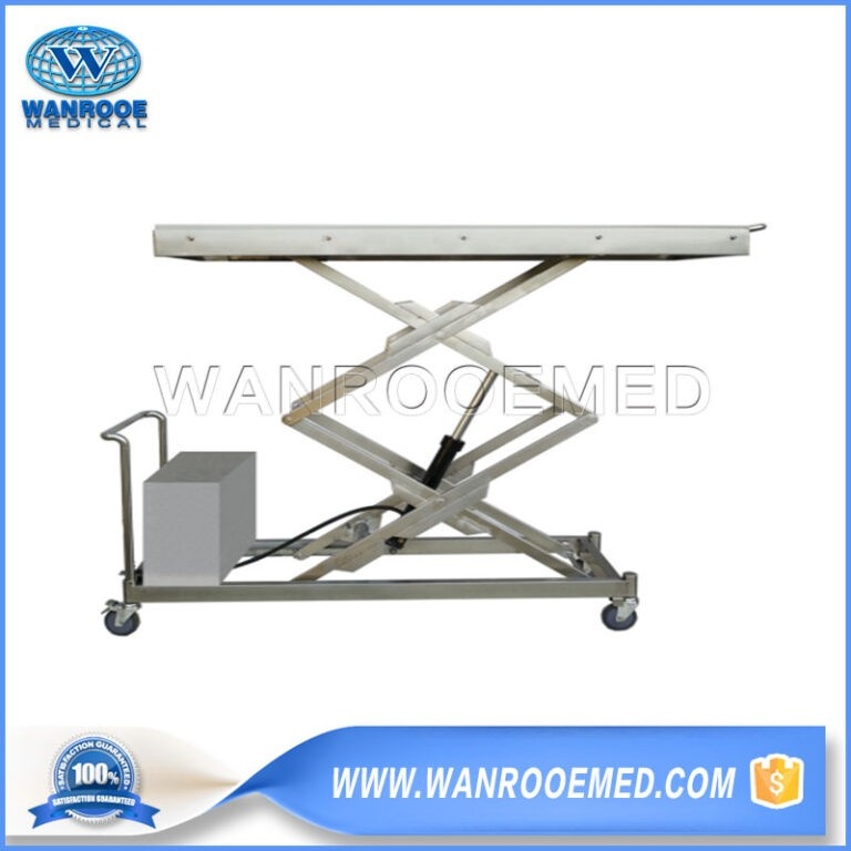 GA500B Mortuary Body Lifter Stainless Steel Electric Hydraulic Double Lift Cart