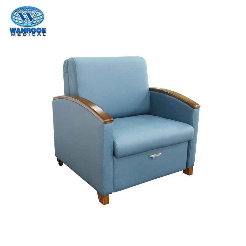 BHC001O Hospital Bed Chair Medical Accompany Chair