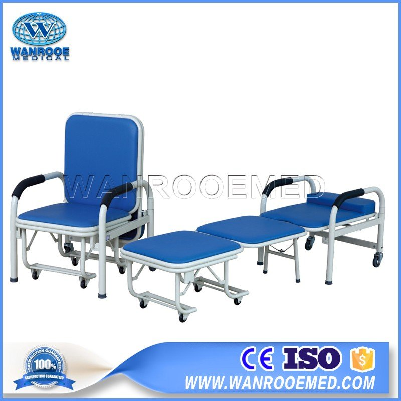 BHC001 Hospital Folding Accompany Chair Patient Attendant Chair