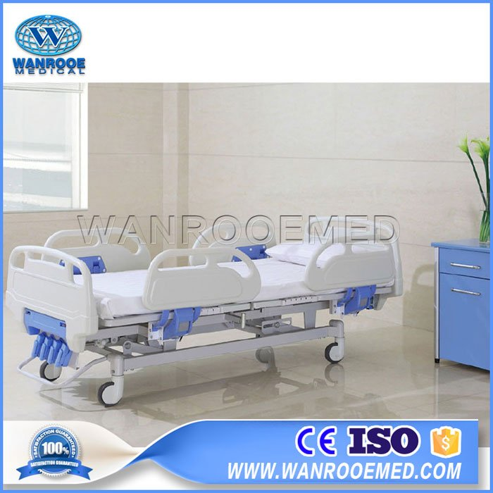 BAM502 Hospital 4 Cranks 5 Functions Manual Patient Medical Bed